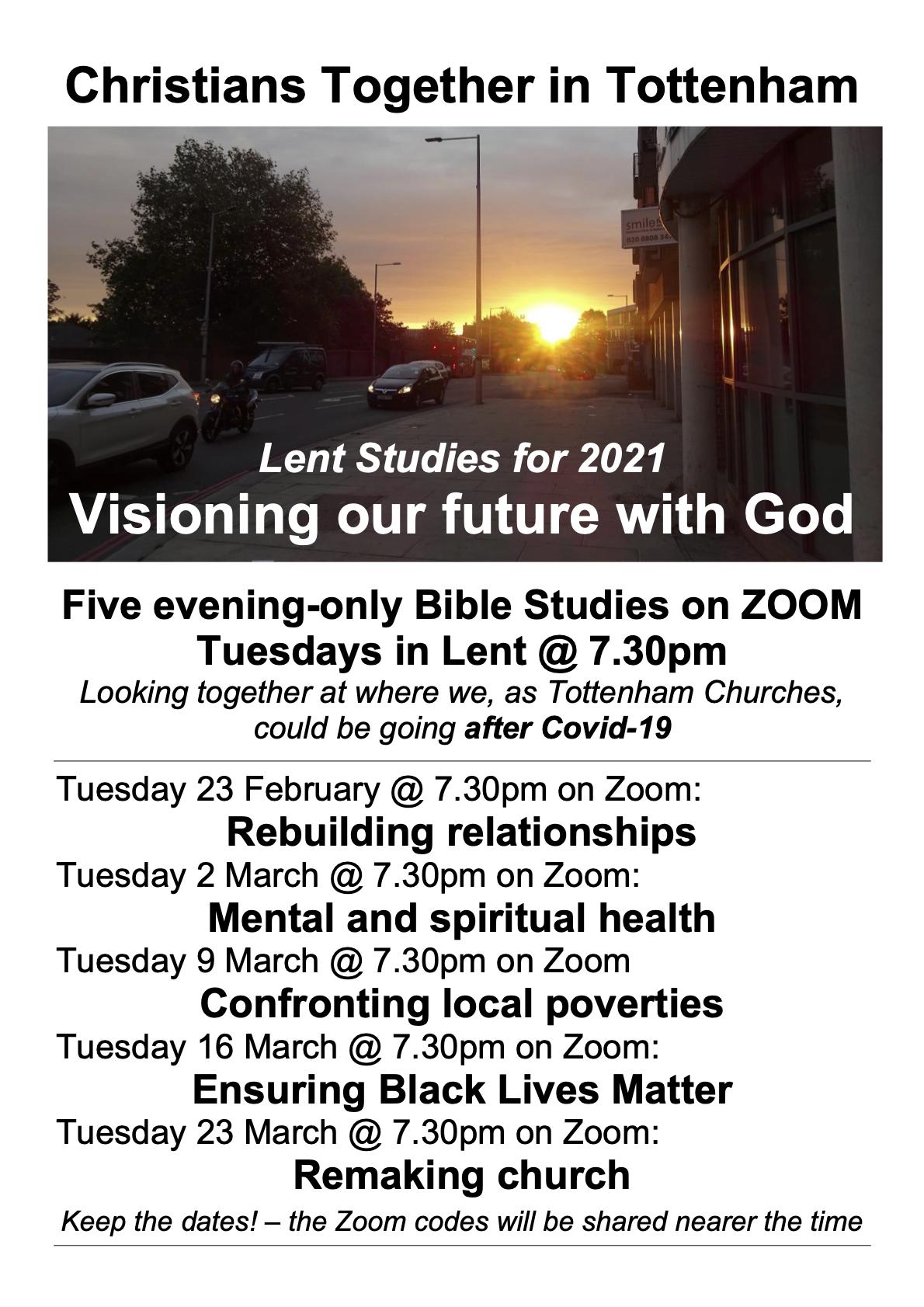 Poster for Lent Studies